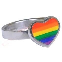 Prsten duhové srdce