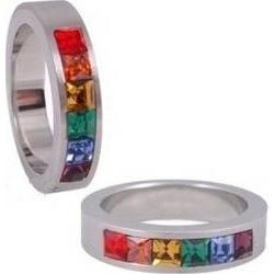 Prsten s kamínky swarovski