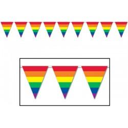 Duhové vlajky 3m (10 vlajek)