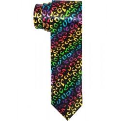Duhová kravata s gepardím vzorem